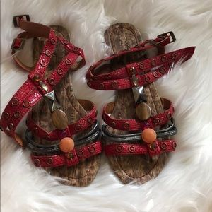 Shoes - Wanted red sandals with jewels